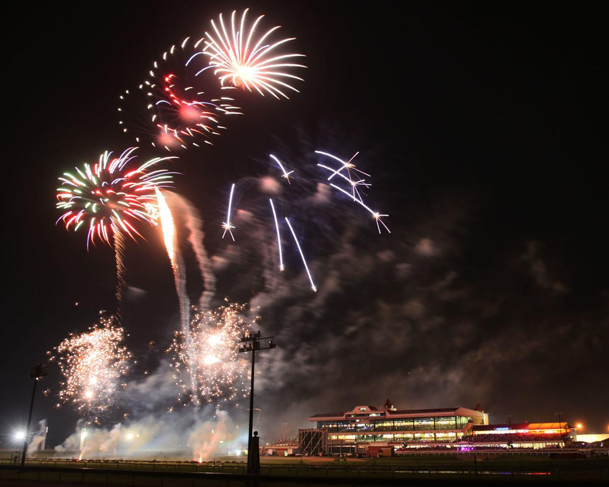 Fourth of July fireworks at Canterbury Park