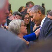 Kitty Westin and President Barack Obama