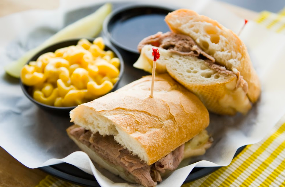 Crumb Gourmet Deli - sandwich with mac n cheese