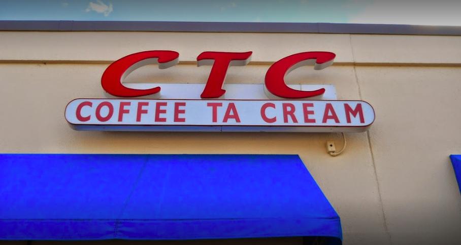 CTC Coffee Ta Cream - signage