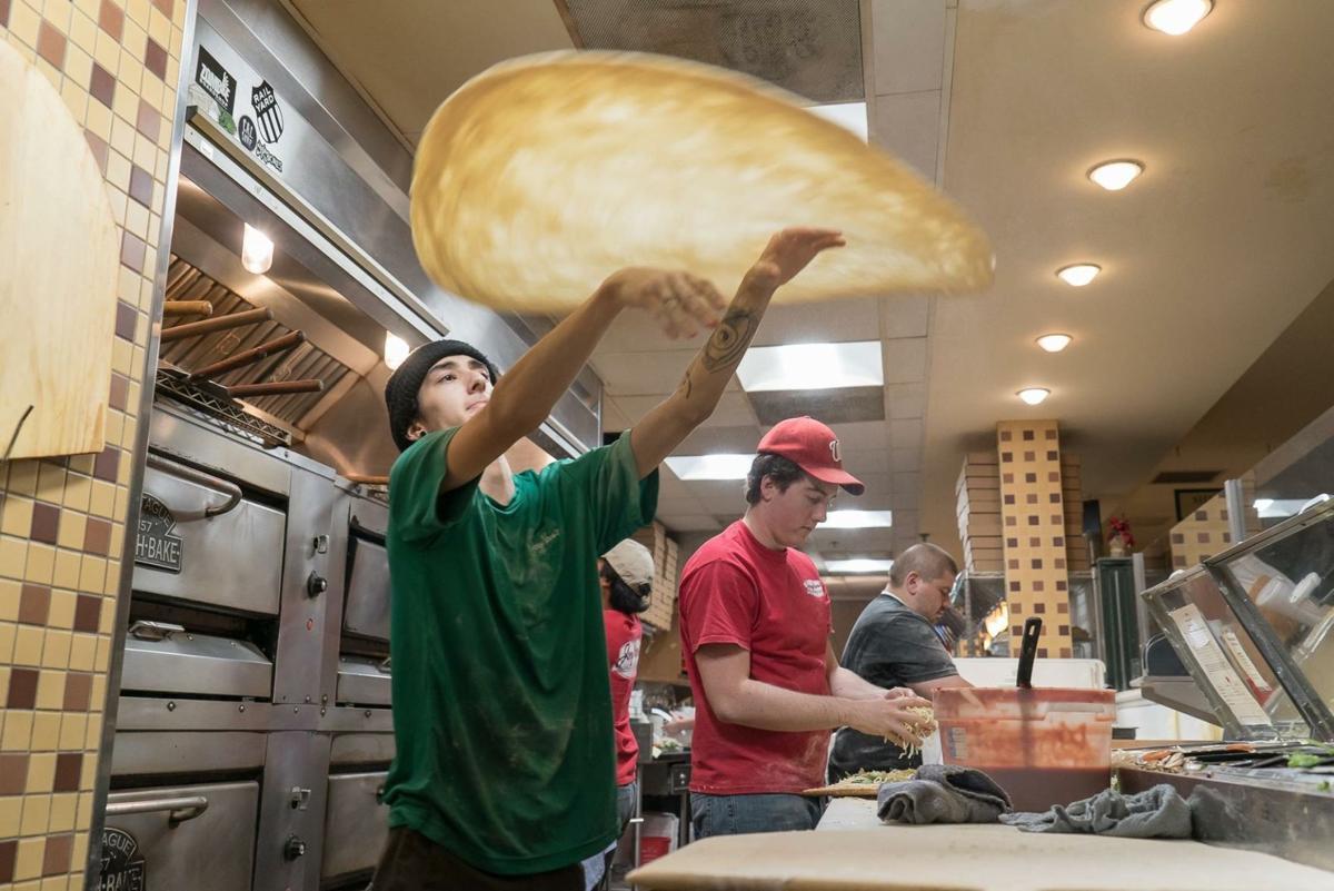 Joey Nova's - pizza tossing