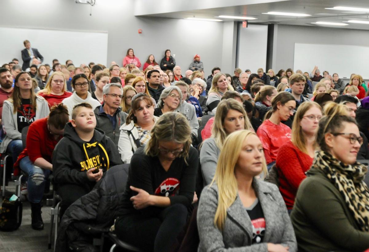 Public hearing crowd