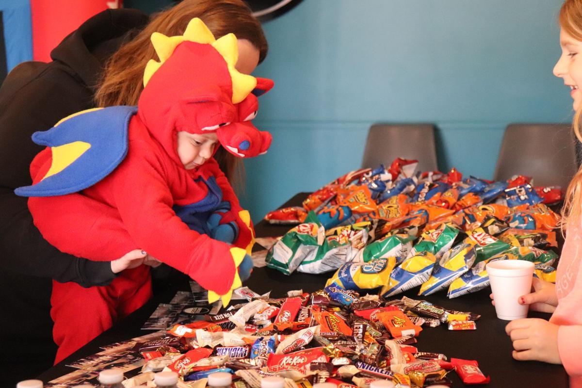Little dinosaur at Jordan Halloween