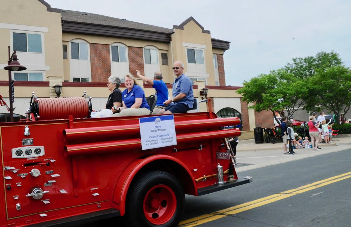 City officials in Dan Patch parade