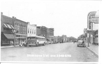First Avenue in Shakopee 1948