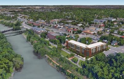 Rendering of proposed apartments on Riverbluff Development