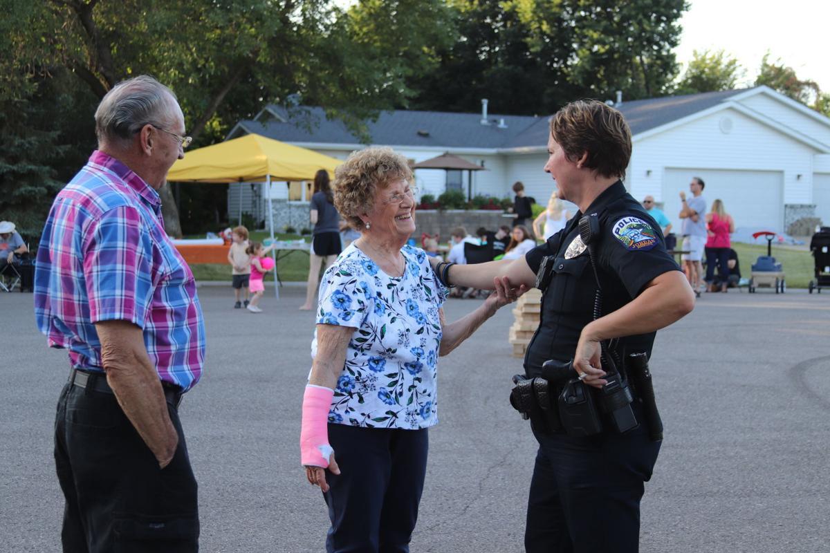 Officer Otto at Jordan Night to Unite