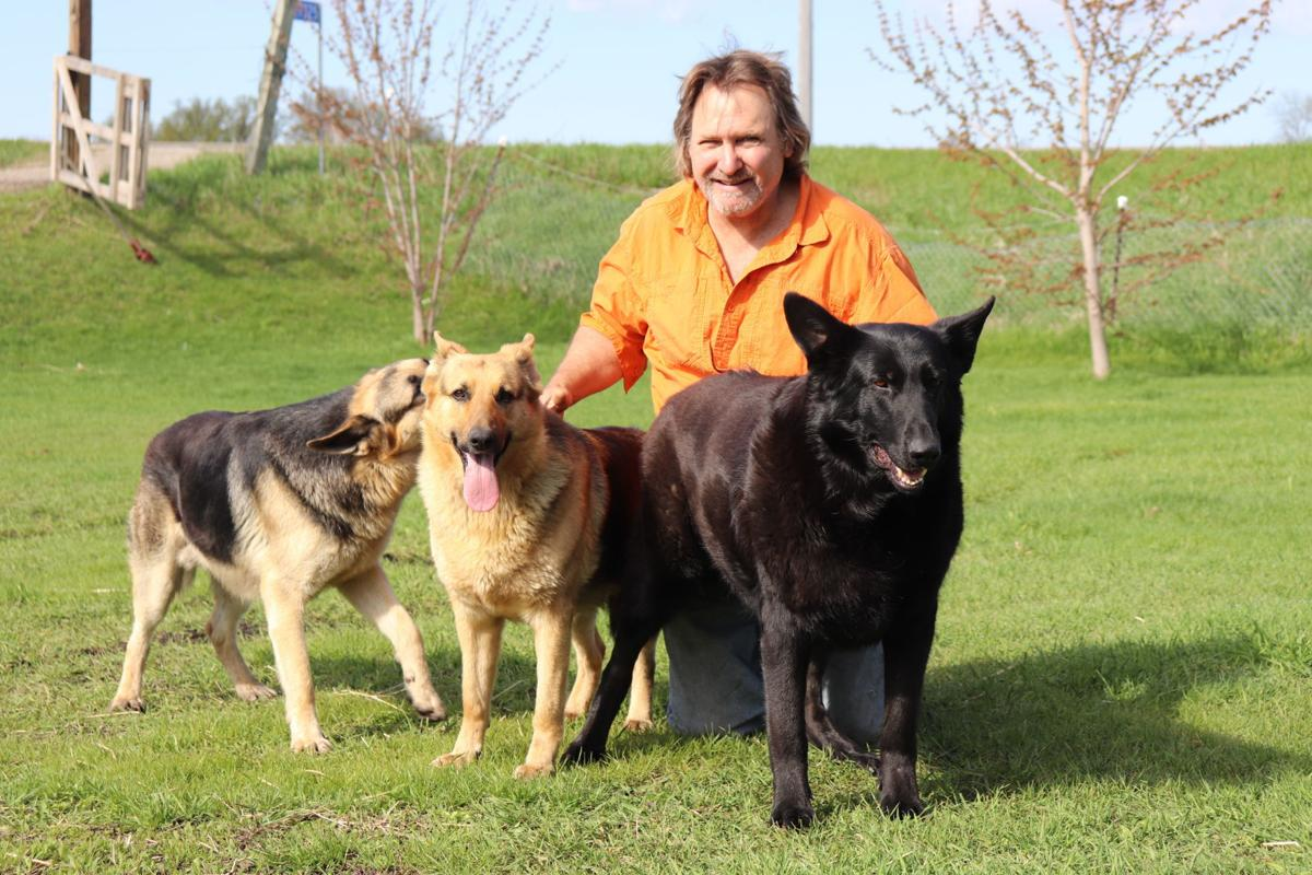 Mike Fontaine with dogs