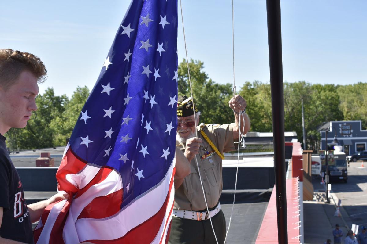 Flag raising at Iwo Jima mural