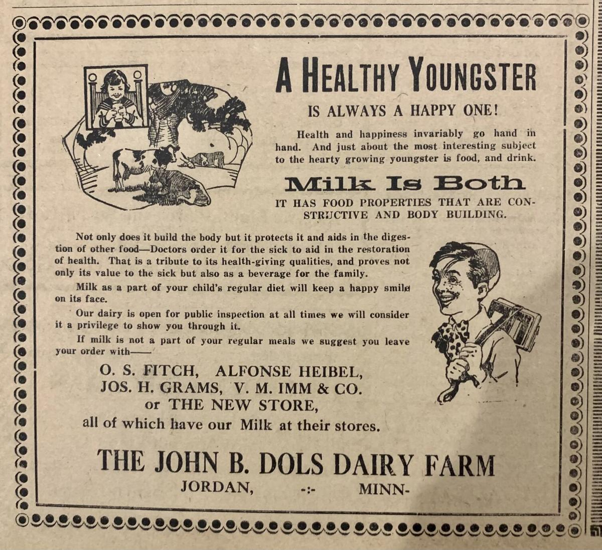 Ad for milk