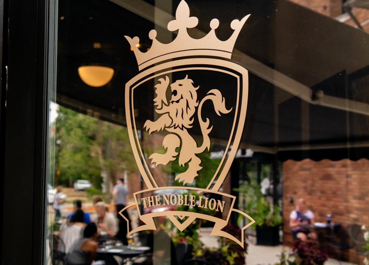 The Noble Lion - Victoria, MN - Door Logo