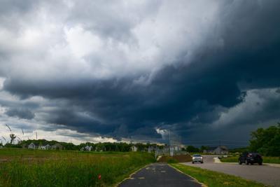 Photo: Storm looms over metro suburbs