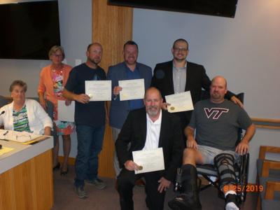 Rob Litton wreck certificate of appreciation