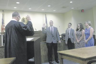 Chris Stacy takes oath as superintendent