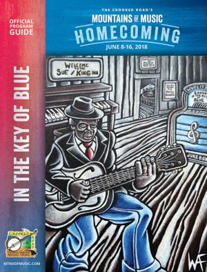 Sowing Seeds: Chilhowie artist's painting celebrates 'blues' as festival guide cover