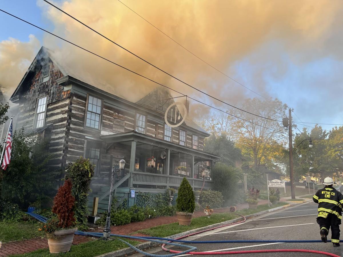 Log House fire