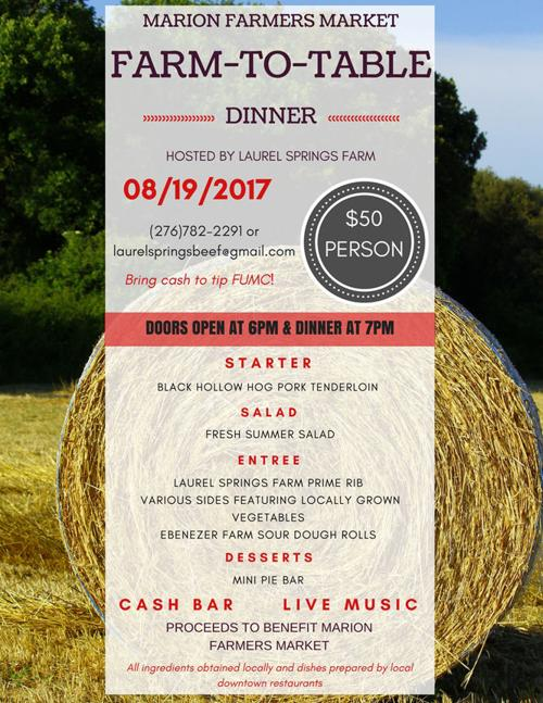 Farm To Table Dinner To Raise Funds For Marion Farmers Market Entertainment Life Swvatoday Com