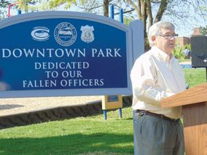 Downtown Park dedicated to fallen officers