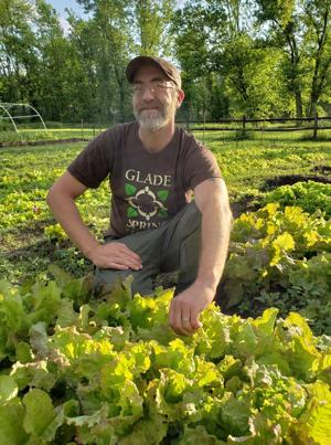Glade Spring gardener's business grow lettuce, salad mixes