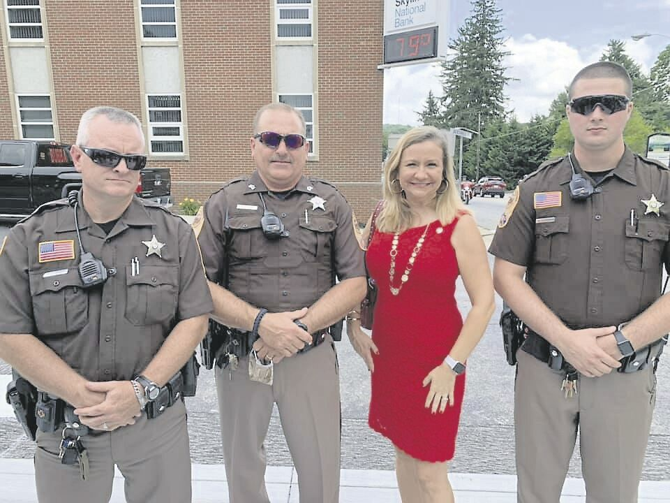 Floyd sheriff's deputies with Sen Amanda Chase