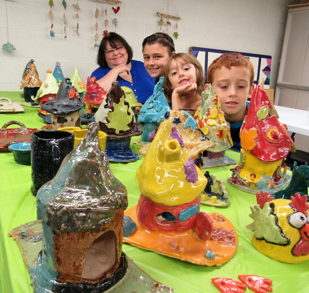 Glade Spring children master clayworking to kick off