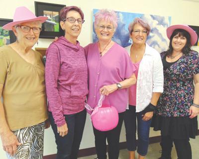 Pink hair ladies
