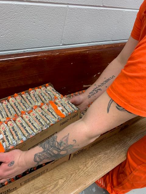 Christmas gift bags to inmates