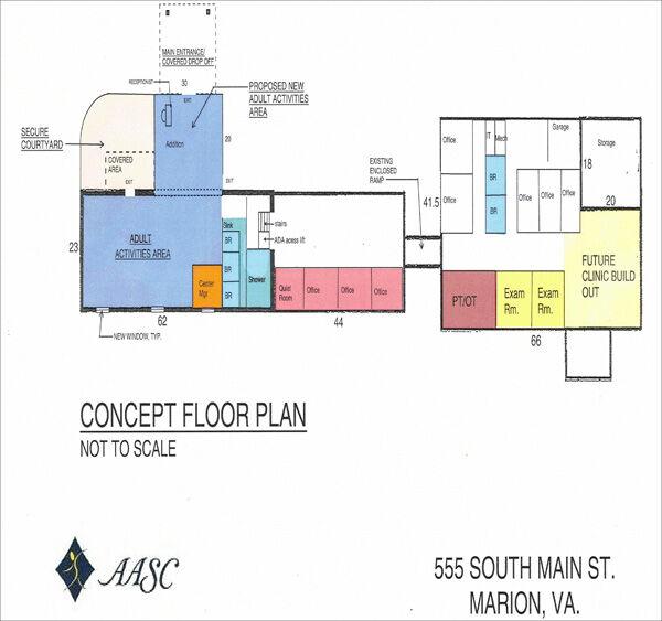 Elder care floor plan