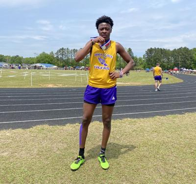 KJ Love Tallassee track and field sectionals
