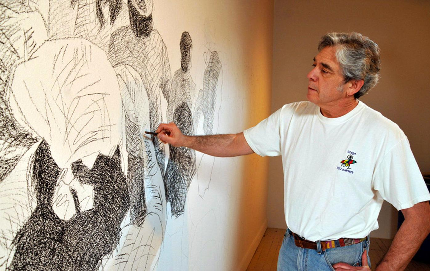 Chicano artist holds a mirror to society