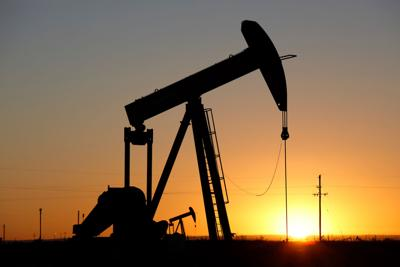 Pumpjacks,,The,Sunset,Of,New,Mexico,Oil,Field,,Shot,Near