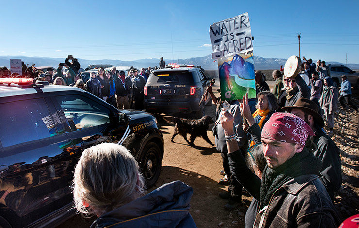 Water activist finishes 4-day action, taken into custody