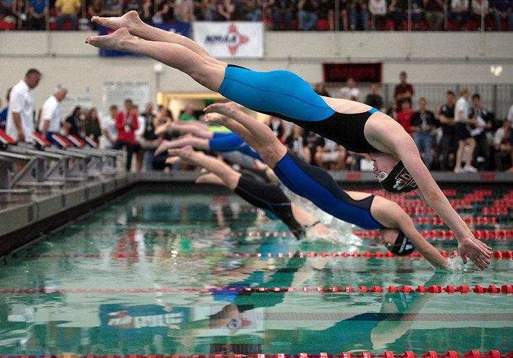 Taos Tigers swim best times at state
