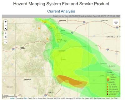 Smoke from Colorado, Wyoming fires fills Taos Valley