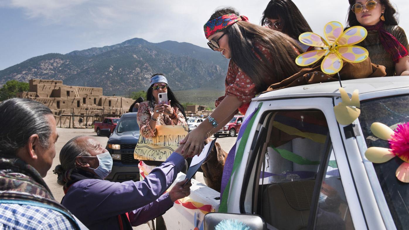 Photos: Taos Pueblo honors 2021 graduates with drive-by parade, celebration