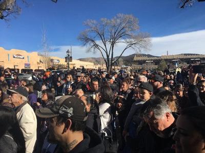 Video: Taos Tigers football team state championship parade Dec. 21