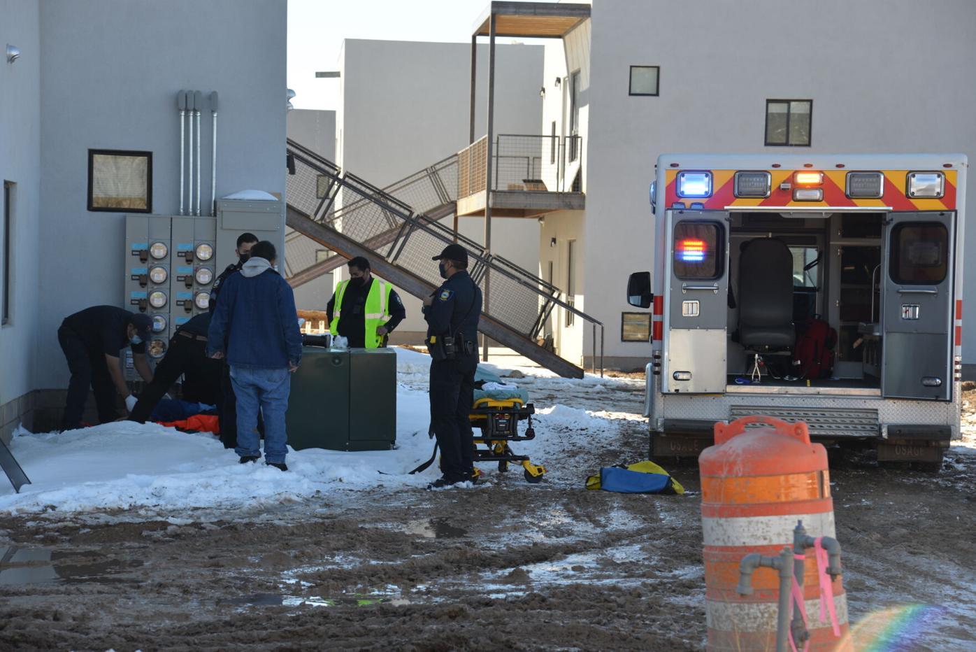 Woman falls out window at Ochenta apartments