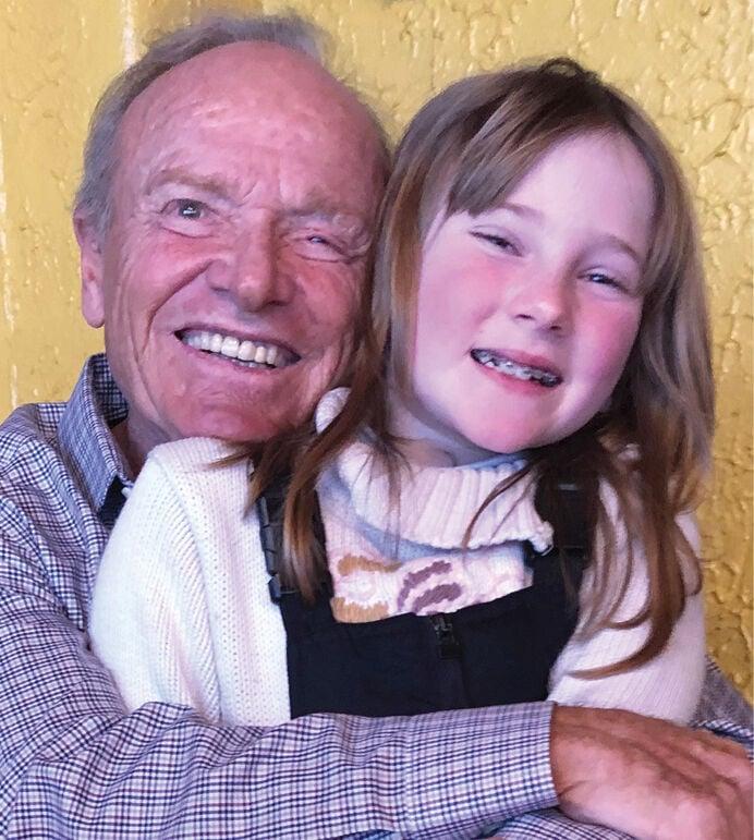 Dadou with granddaughter