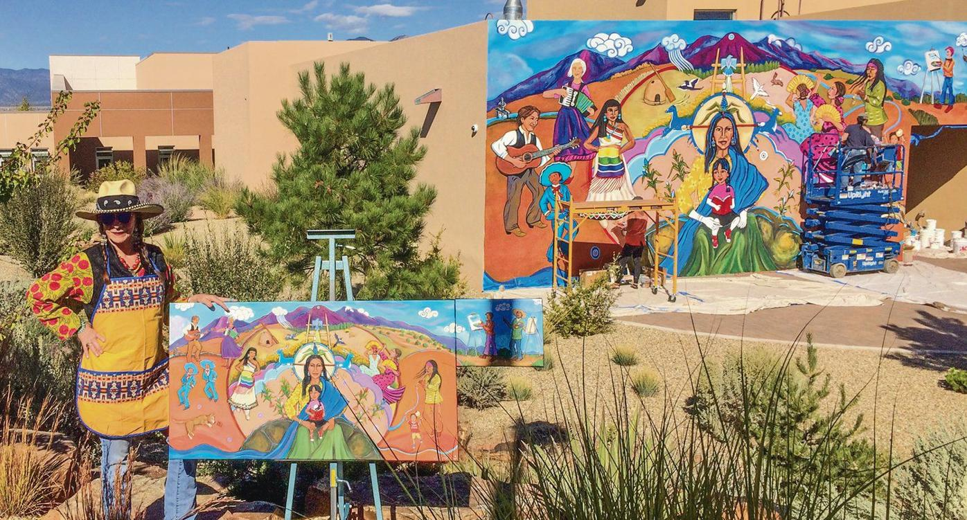 Mural 'The Dance' unveiled at UNM-Taos