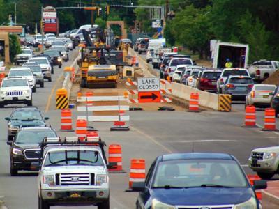 Paseo road construction traffic