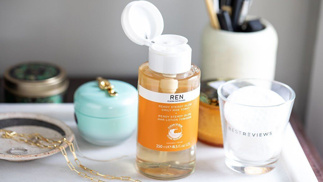 The REN Ready Steady Glow Toner comes in a bottle that is recycled and 100% recyclable, where facilities exist.