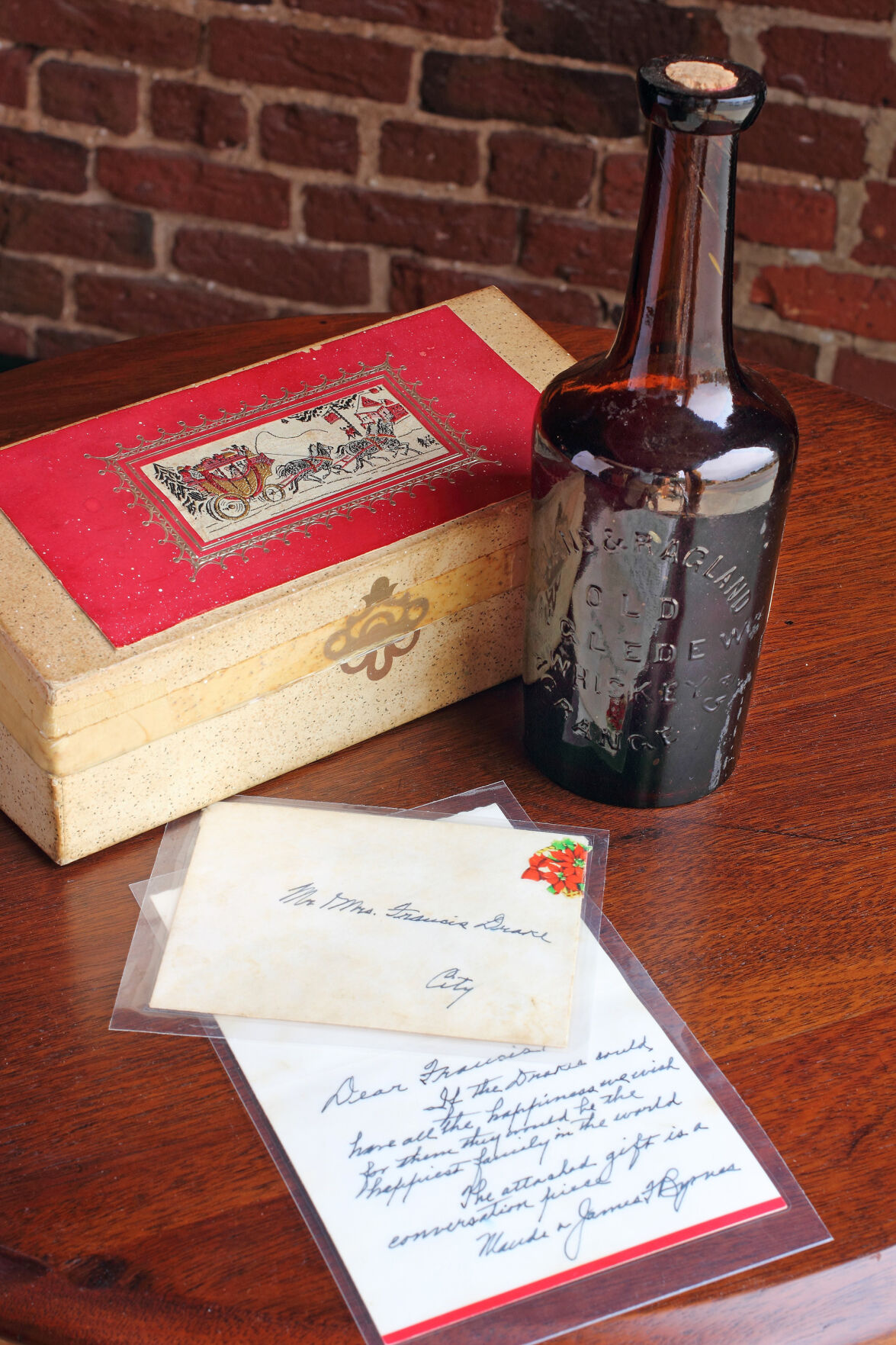 South Carolinian Rex Woolbright found the bottle of whiskey when going through his uncle's estate.