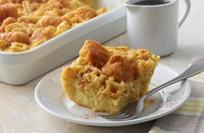 Recipe of the Day: Chicken and Waffle Breakfast Casserole