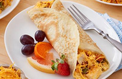 Recipe of the Day: Chicken and Chorizo Breakfast Burrito