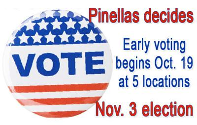 Early voting begins Monday, Oct. 19, at five Pinellas locations