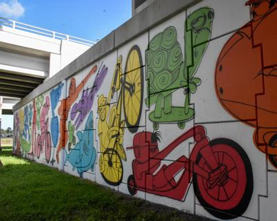 Pinellas officials over the moon about Palm Harbor underpass mural