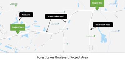 Work begins on Forest Lakes Boulevard improvement project