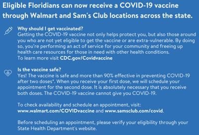 Walmart and Sam's Club pharmacies to offer COVID-19 vaccinations