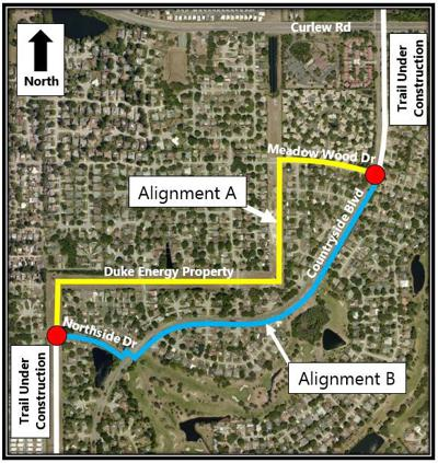 Commission struggling to find solution to complete north gap of Pinellas Trail