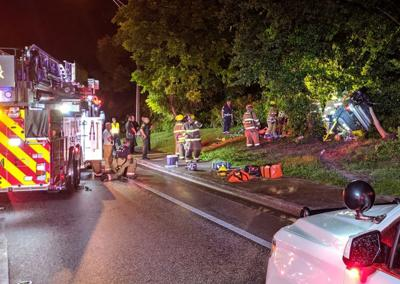 St. Petersburg man entrapped for hours after vehicle hits tree